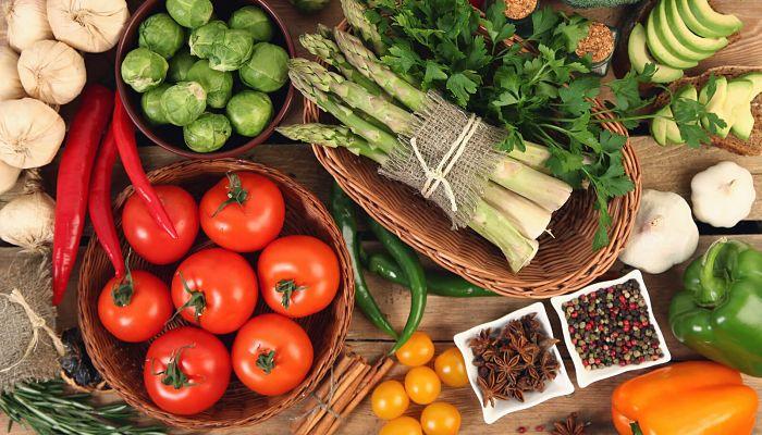 Muchas verduras, bajas calorías