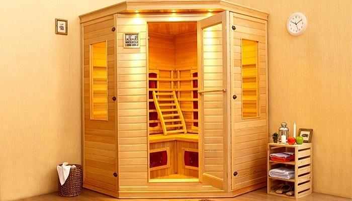 la terapia de una sauna de infrarrojo