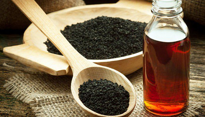 aceite de semilla negra y miel