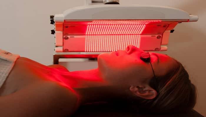 terapia con luz roja