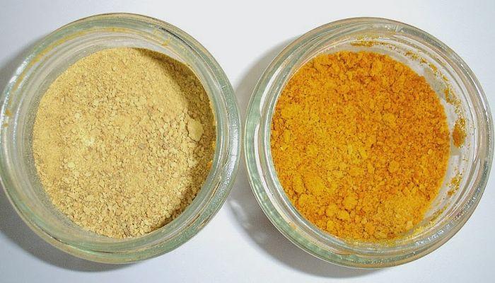 la cáscara de naranja en polvo
